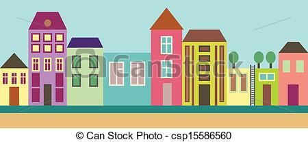 Place clipart city street Street city street City EPS