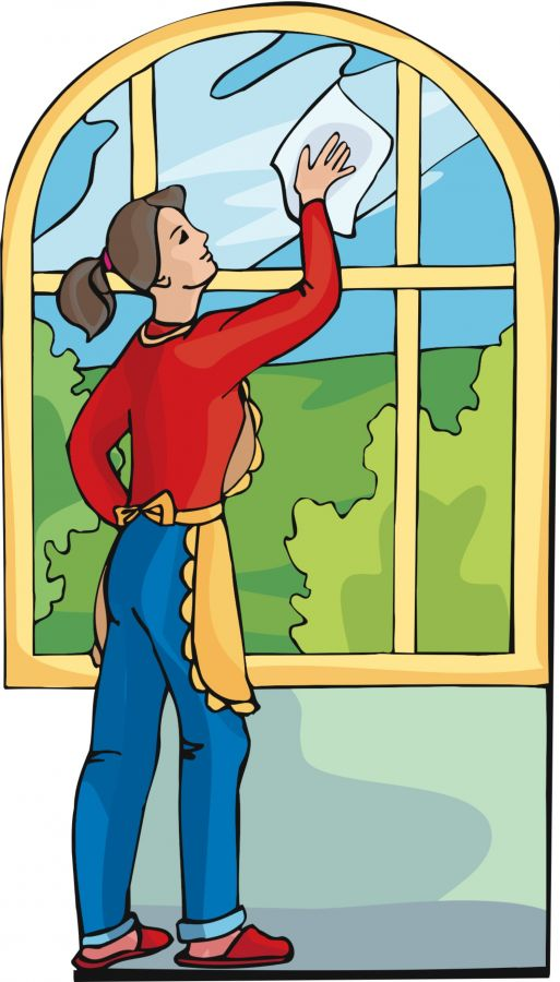 Women clipart cleaning house  Of the Cliparts Art