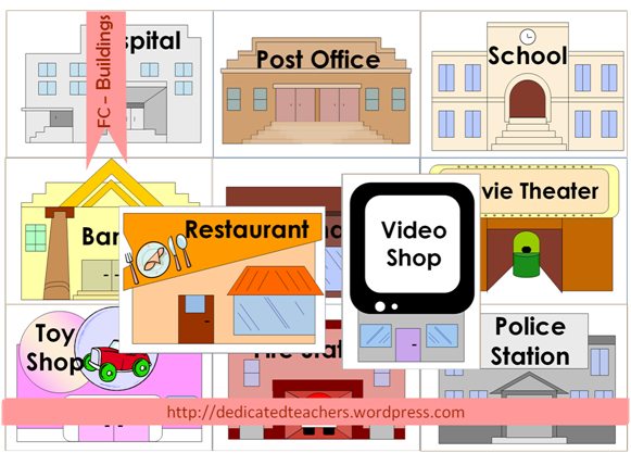 Places clipart community flashcard #1