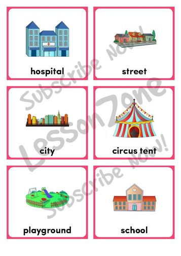 Places clipart community flashcard #3