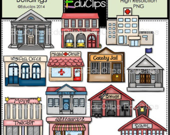 Place clipart community building Art Buildings Clip Bundle Community