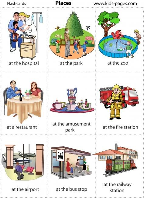 Places clipart community flashcard #2