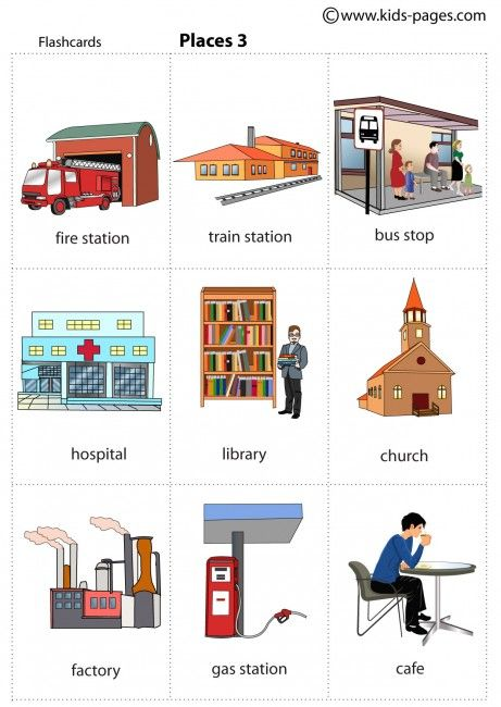 Places clipart community flashcard #10