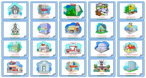 Place clipart community printable The in places Learning Flashcard