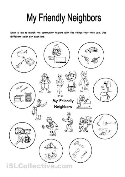 Place clipart community worksheet Focuses Helpers jobs And That