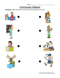 Place clipart community worksheet Worksheet Matching Helper Helper Matching
