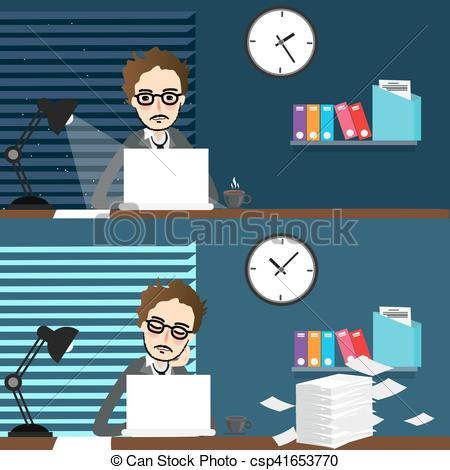 Place clipart day time Day over night working place