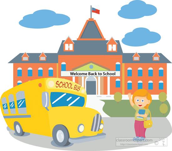 Larger clipart school building School compdclipart com background Download