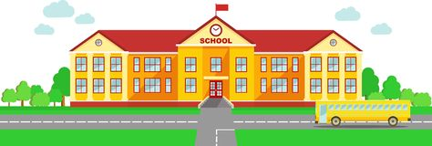 Thai clipart school building Building and clipart high White
