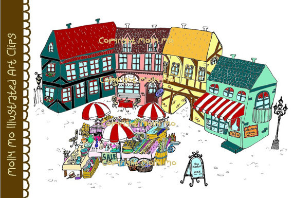 Town clipart open air market #1