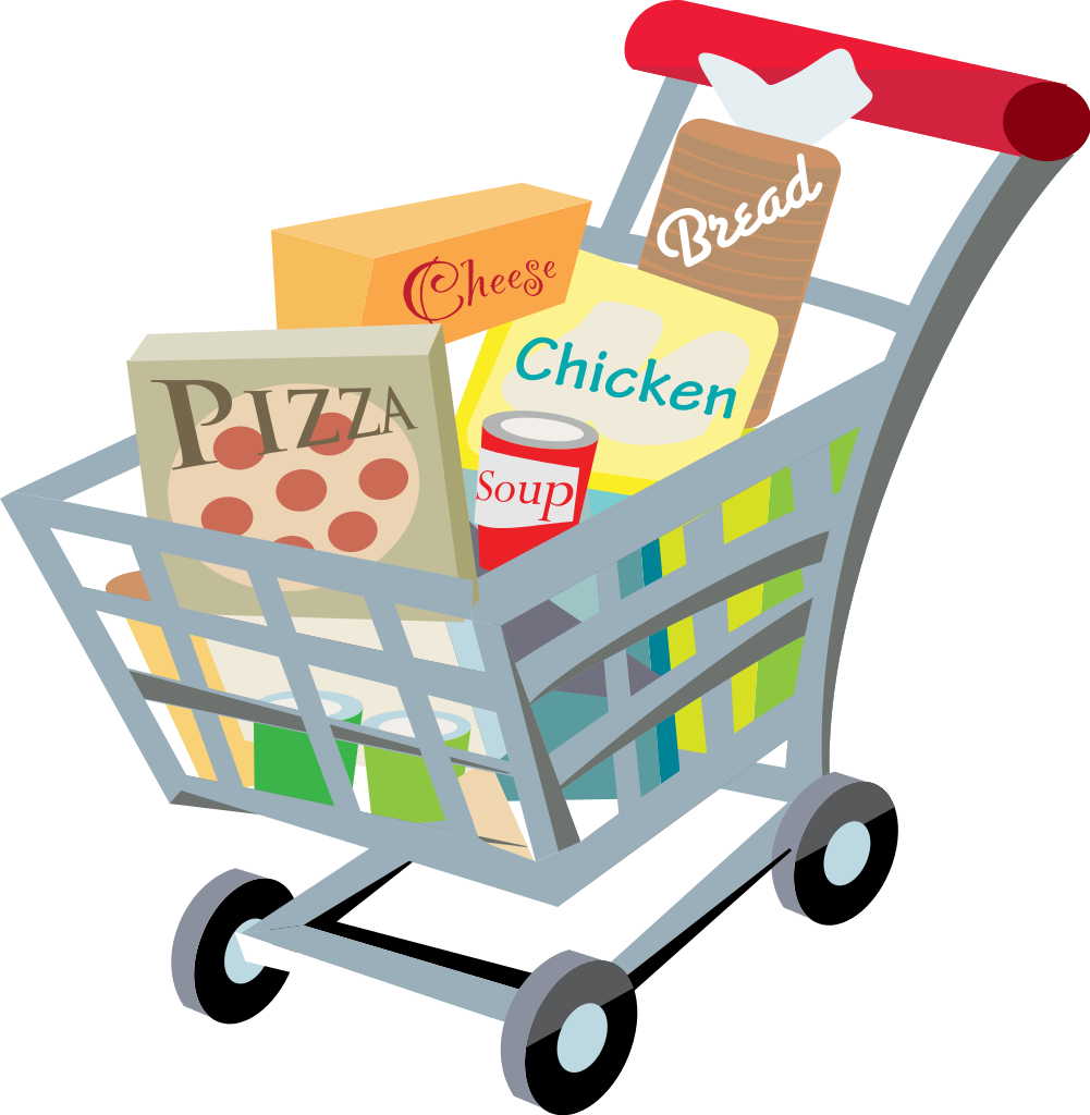 People clipart grocery shopping  Grocery Clipart clipart People