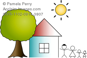 Hosue clipart home and family With a of Clip Art