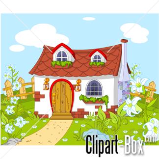 Cottage clipart house garden Clipart Free Art Garden Clipart