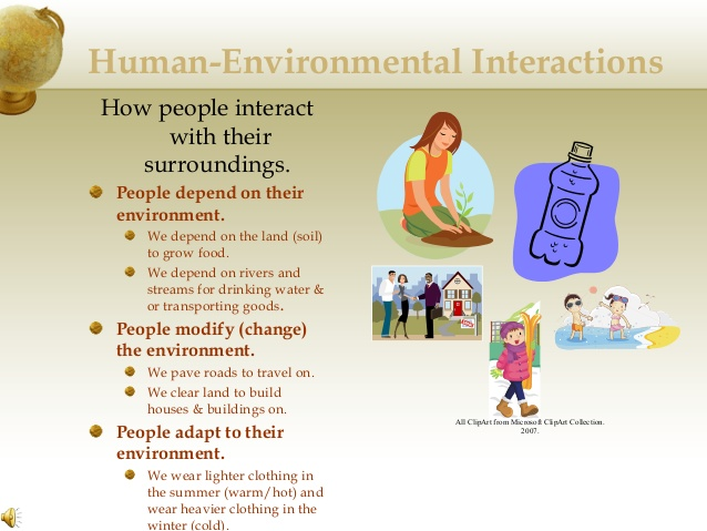 Plant clipart human environment interaction Themes Environmental Human powerpoint geography