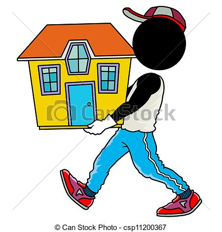 Place clipart moving house Of man csp11200367 house moving