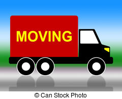 Place clipart moving house Of Moving  royalty House