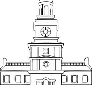 Place clipart municipal hall Vector Carpenters Hall Vector Download