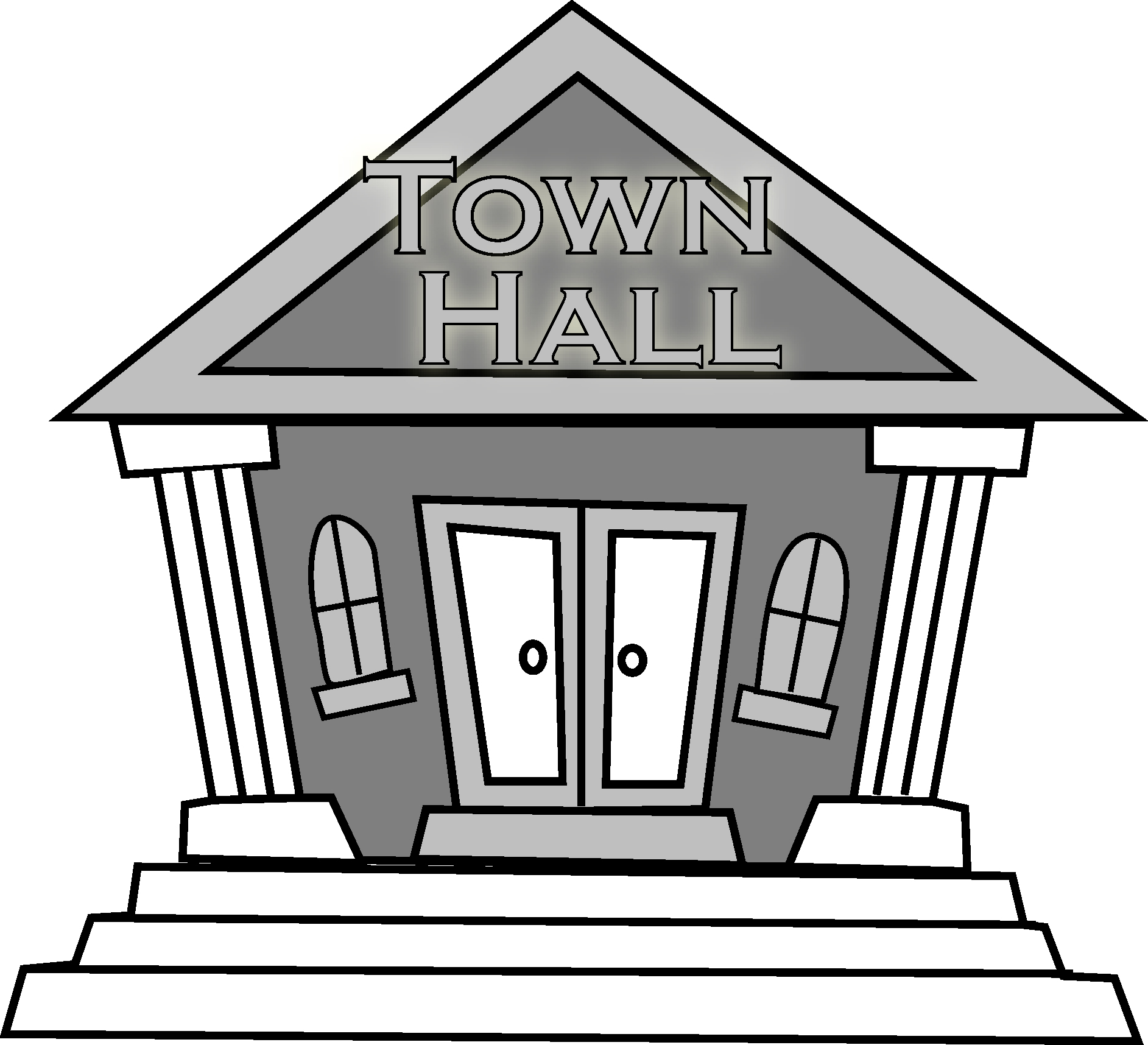 Place clipart municipal hall #5