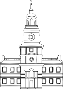 Place clipart municipal hall At Independence Hall clip online