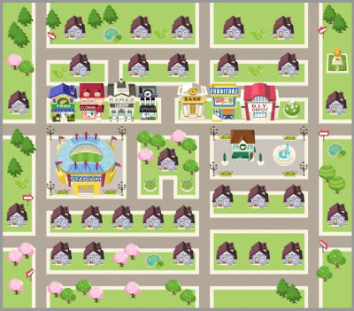 Places clipart neighborhood map #4