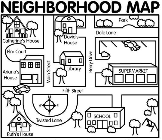 Places clipart neighborhood map #1