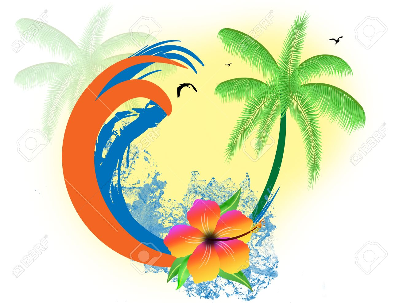 Bird Of Paradise clipart Paradise Clipart cliparts Tropical Paradise