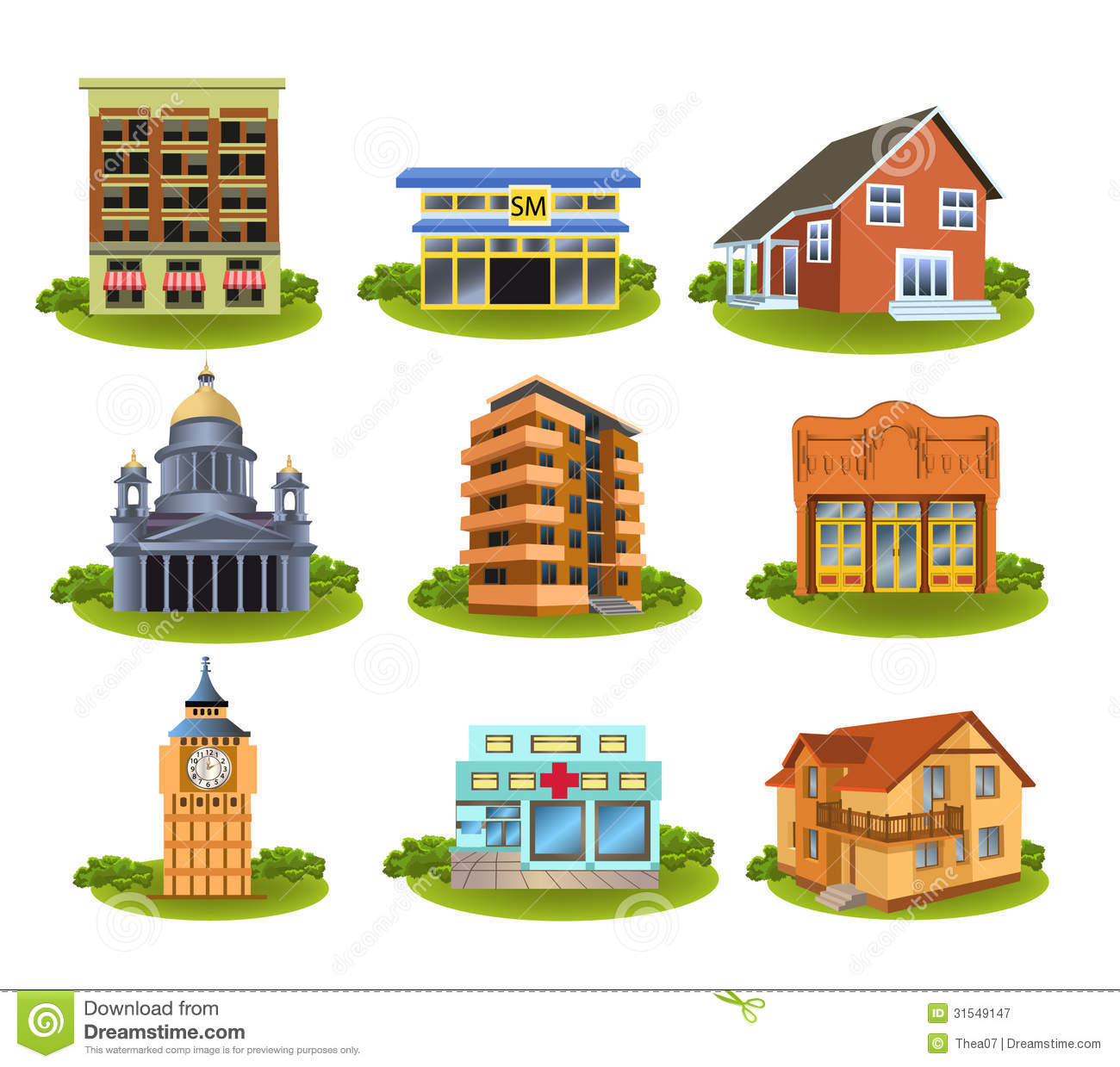Places clipart different Places Public Places community clip