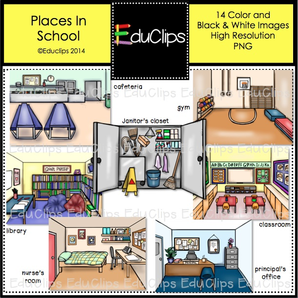 Places clipart different Clip Different Places school art