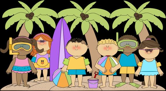 Vacation clipart cute beach Summer Beach Kids at the