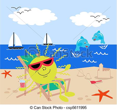 Holydays clipart summer vacation The of Vector Clipart csp5611995