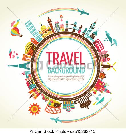 Travel clipart tourism Vector of Vector  Travel