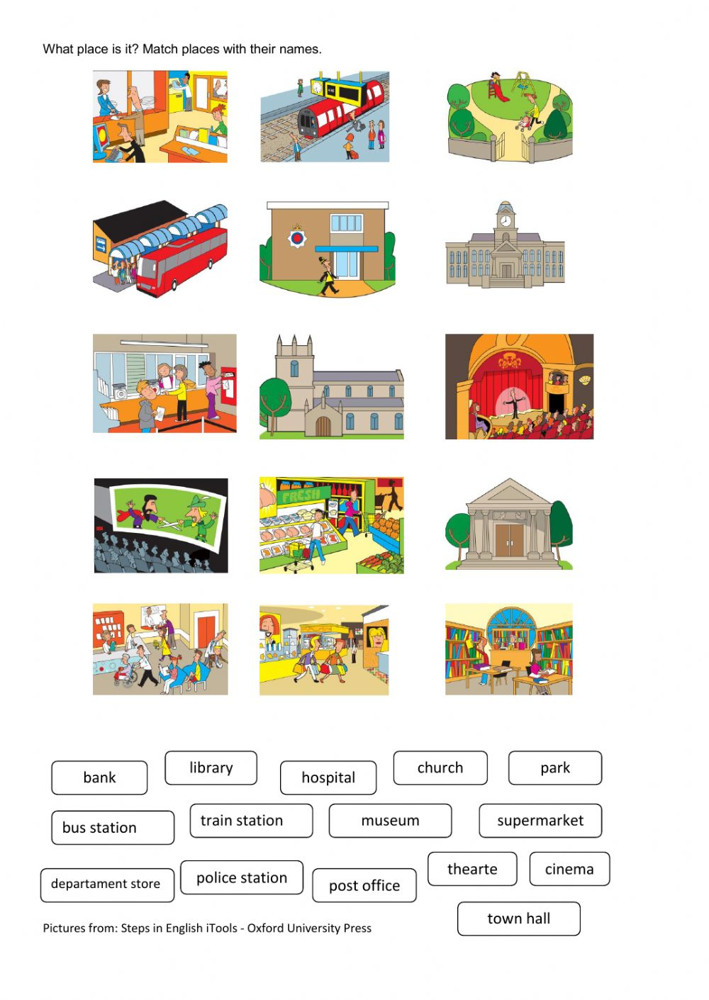 Places clipart town  Interactive town in Places