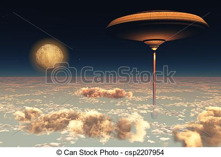 Place clipart utopia Illustration spacestation the A Drawing