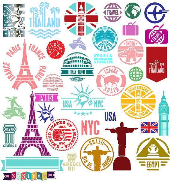 Place clipart world travel SasiyaDesigns Abstract DOWNLOAD the images
