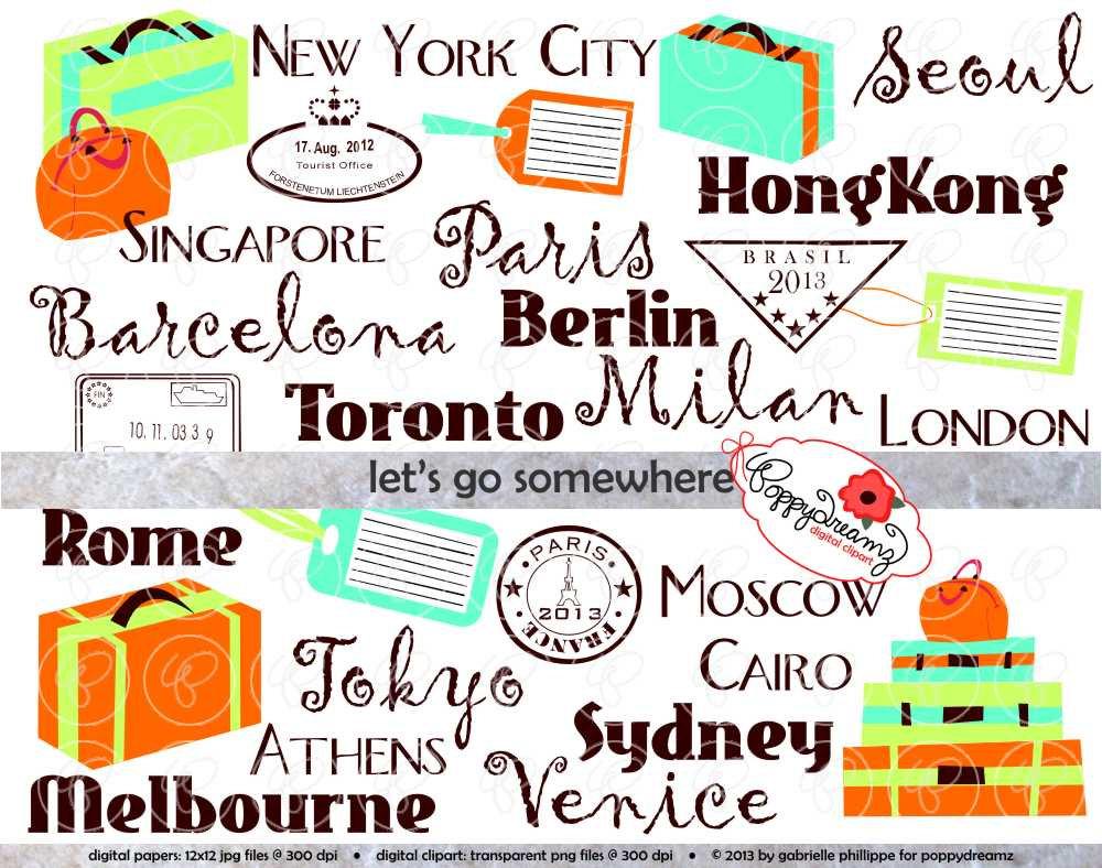 Place clipart world travel Suitcase Somewhere Go Art World