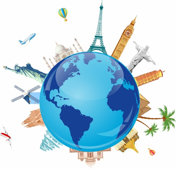 Place clipart world travel On Symbols Travel famous Free