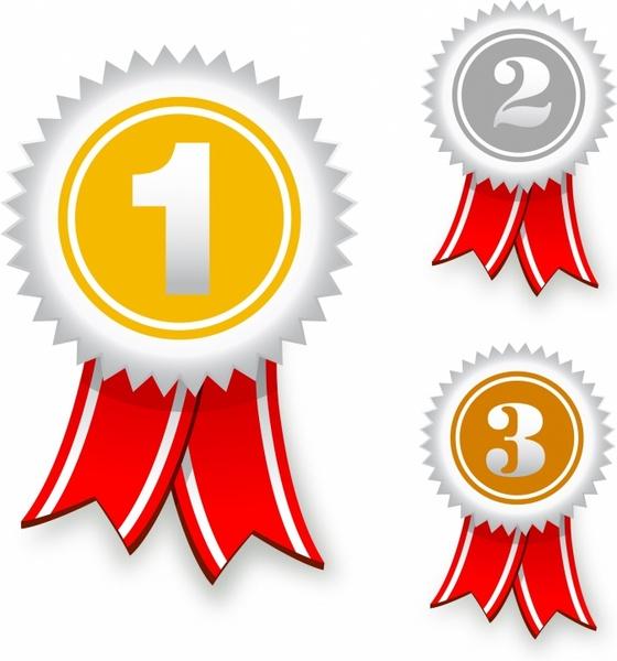 Winning clipart ribbon vector Vector ribbons for award bronze