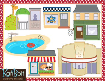Places clipart different Clip 2 Clip Art art