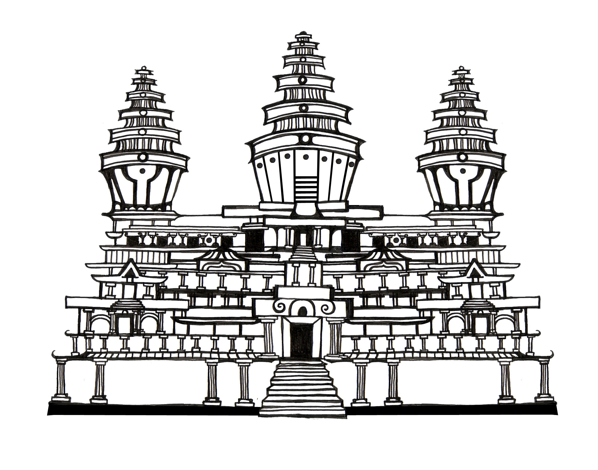 Angkor Wat clipart Search Search buddhist Pinterest drawing