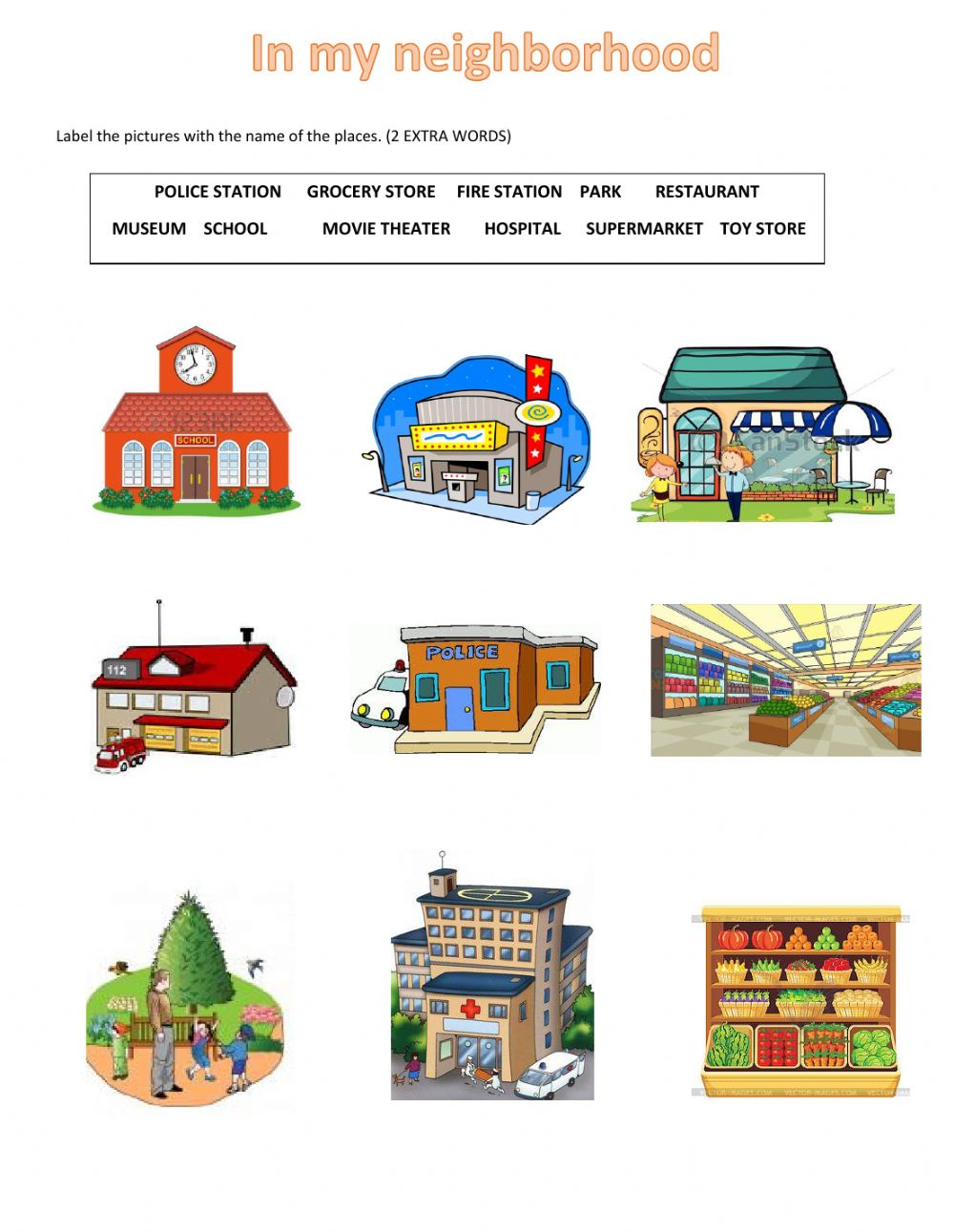 Places clipart community worksheet #11
