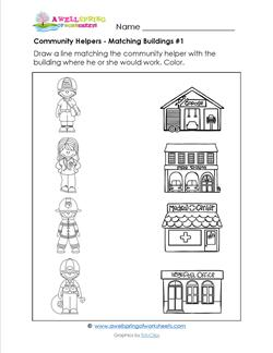 Places clipart community worksheet #2