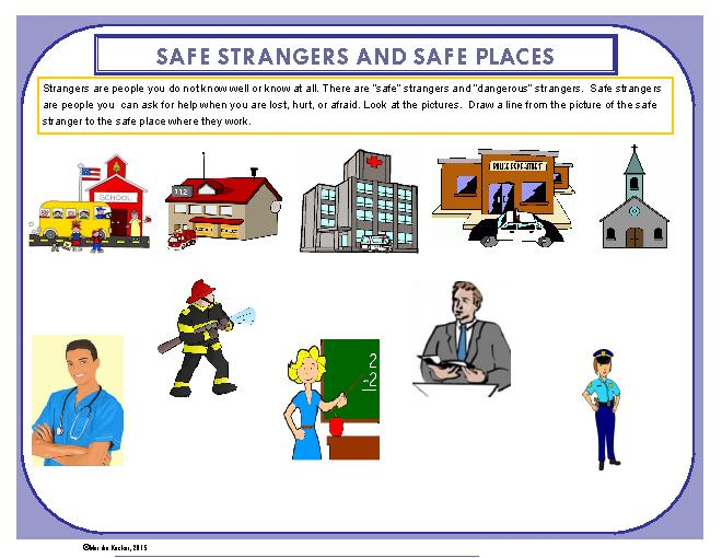Places clipart community worksheet And Faces com Safe Faces