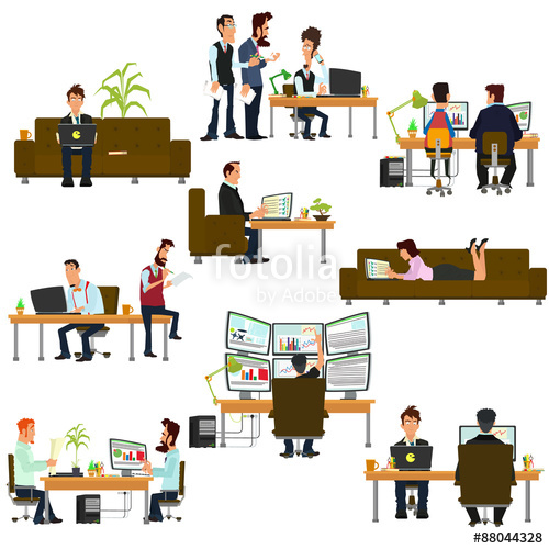 Places clipart different Of people Vector business