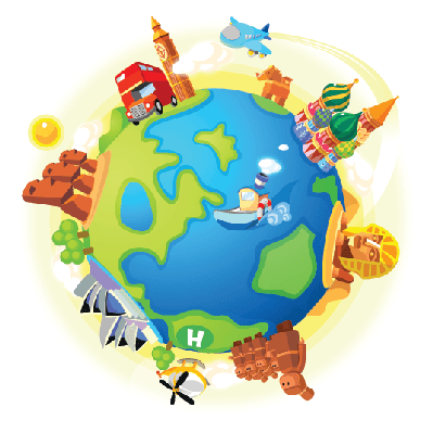 Places clipart different Gallery Traveling Places of Airplane