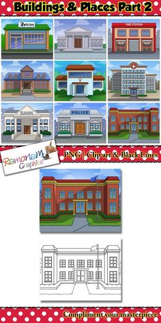 Places clipart elementary school building #10