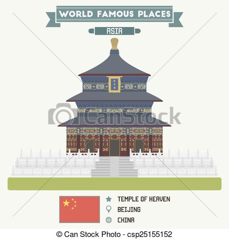 Places clipart heaven Beijing China of Vector csp25155152