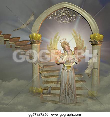 Places clipart heaven Clipart gg57927250 Illustration Stock GoGraph