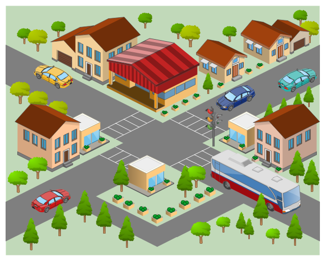 Places clipart neighborhood map #15