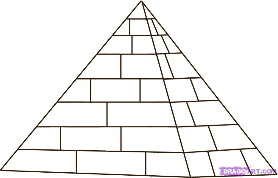 Drawn pyramid ancient egypt pyramid Pyramid to step How 4
