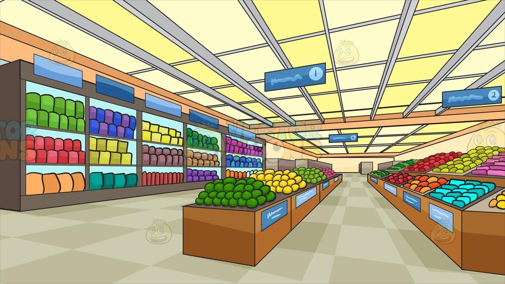 Places clipart supermarket building #15